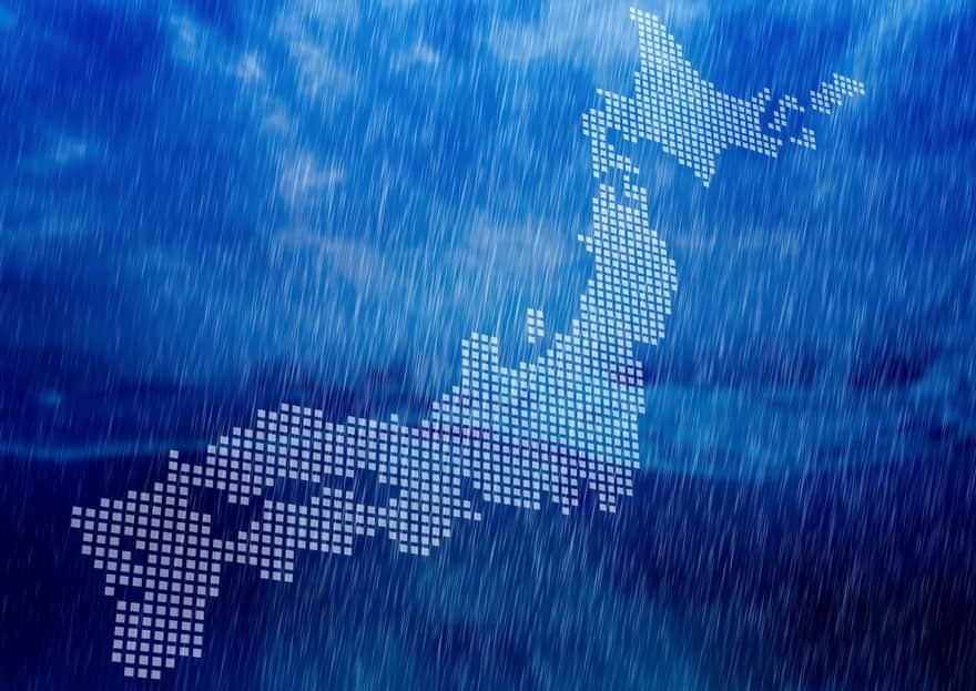 日本列島を異常気象が襲うイメージ図