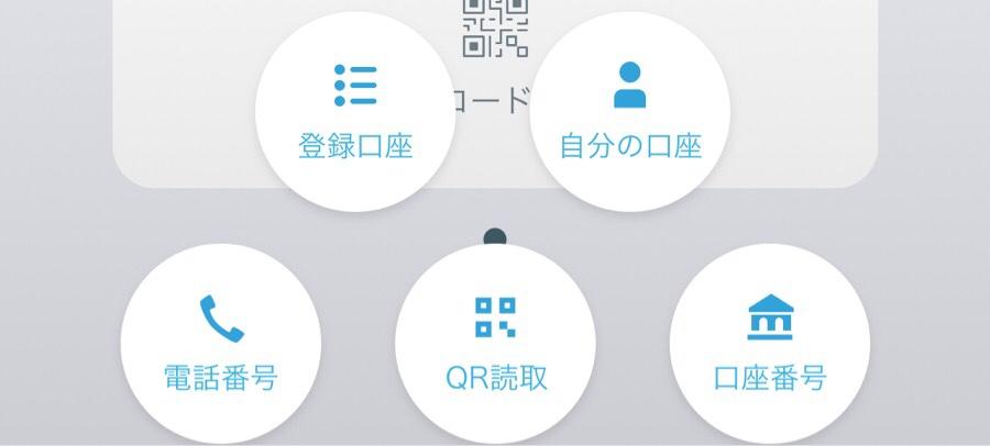 マネータップ'(MoneyTAP)の送金チャネルは口座番号・携帯電話番号・QRコード