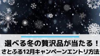 さとふるで当たる冬の贅沢品キャンペーン(12月)