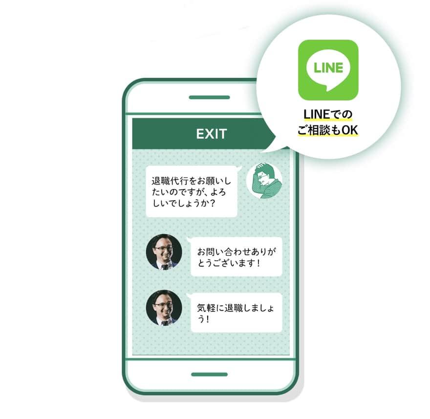 退職代行EXITのLINE相談イメージ