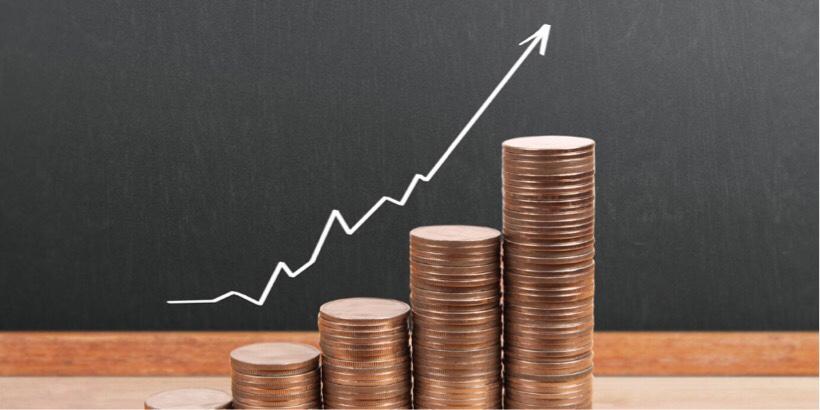 儲けが急上昇しているイメージ