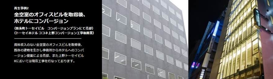 オフィスビルをホテルにリノベーション