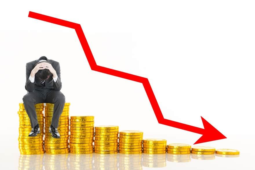 価格が下落するイメージ画像