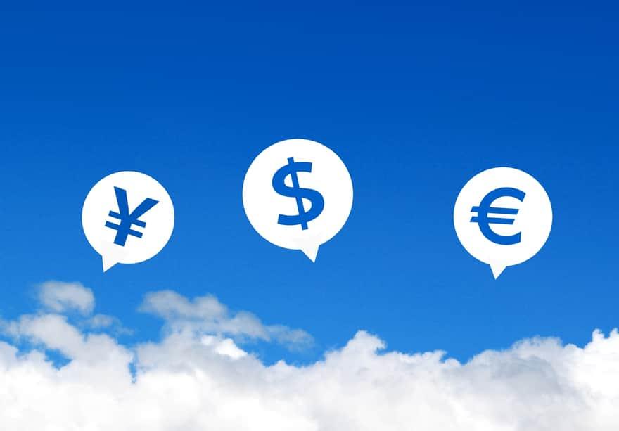 円、ドル、ユーロの画像