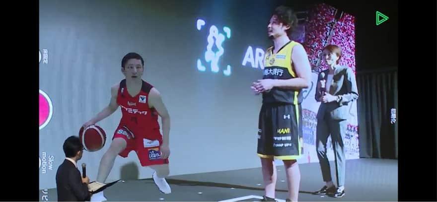 バスケットボール河村選手のAR
