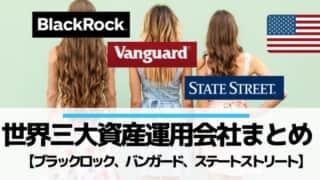 世界3大資産運用会社ブラックロック・バンガード・ステートストリート
