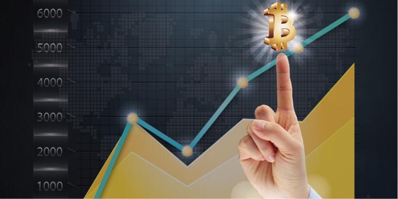ビットコイン上昇のチャート