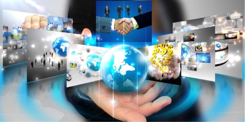 アメリカ企業がグローバルに躍進しているイメージ