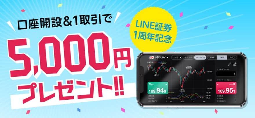 LINE FX、5.000円プレゼントキャンペーン